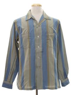 1950's Mens Mod Silk Sport Shirt