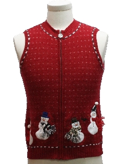 1990's Womens/Girls Ugly Christmas Sweater Vest