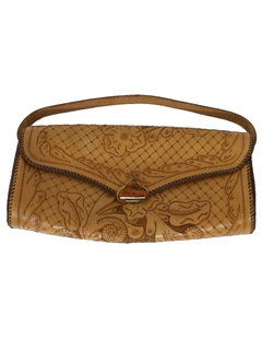 1950's Womens Accessories - Tooled Leather Purse