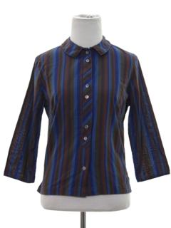 1960's Womens Mod Striped Shirt