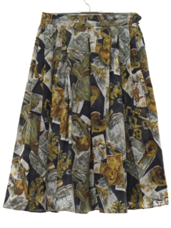 1950's Womens Photo Motif Fab Fifties Skirt