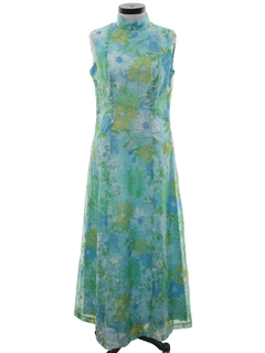 1960's Womens Mod A-Line Maxi Dress