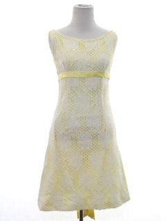 1960's Womens Mod A-Line Cocktail or Prom Dress