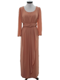 1970's Womens Cocktail Maxi Dress