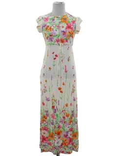 1970's Womens/Girls Hippie Maxi Dress