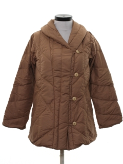 1970's Womens Quilted Car Coat Jacket