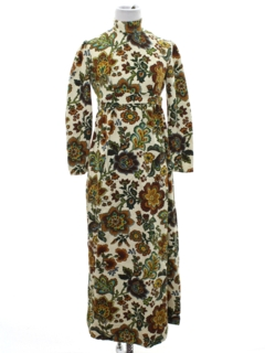 1960's Womens Mod Hippie Maxi Dress