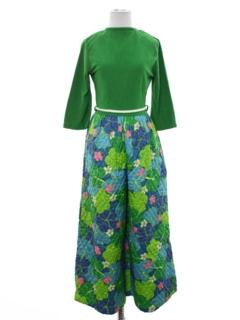 1960's Womens Mod Hippie Jumpsuit