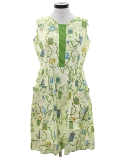 1960's Womens Accessories - Mod Apron