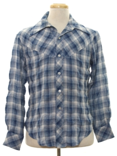 1970's Mens Western Style Flannel Shirt