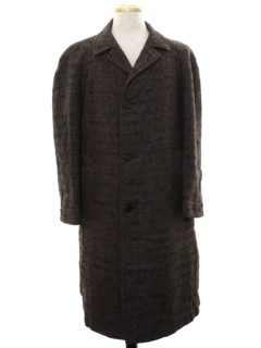 1950's Mens Wool Overcoat Jacket