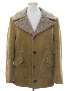 1970's Mens Corduroy Car Coat Jacket