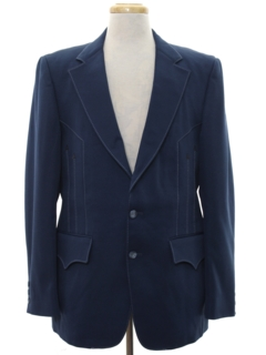 1970's Mens Western Disco Style Blazer Sport Coat Jacket