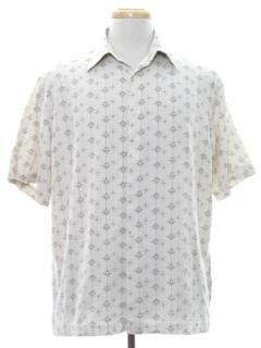 1960's Mens Mod Silk Sport Shirt