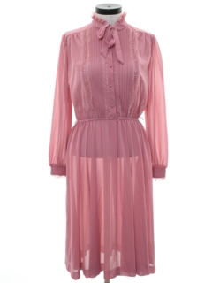 1970's Womens Secretary Style Disco Dress