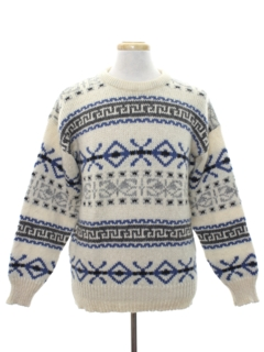 1980's Mens Wool Ski Sweater