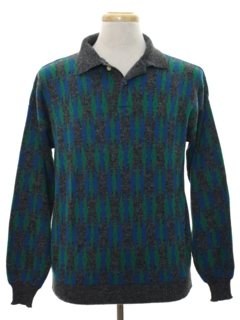 1980's Mens Totally 80s Lightweight Knit Sweater Shirt