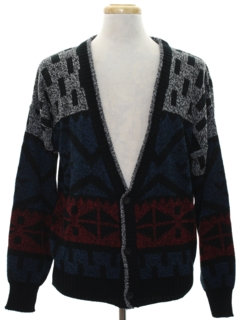 1980's Mens Totally 80s Cardigan Cosby Style Sweater
