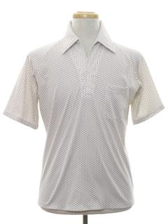 1970's Mens Resort Wear Style Subtle Print Disco Shirt