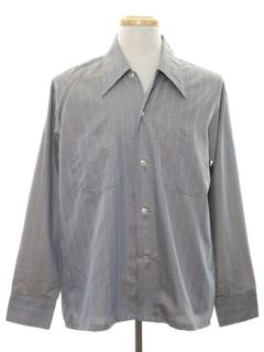 1960's Mens Mod Subtle Print Sport Shirt