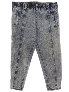1980's Womens Acid Washed Jeans Denim Pants