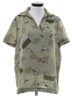 1980's Womens Print Maternity Shirt