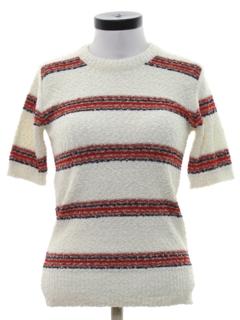 1970's Womens Designer Knit Shirt
