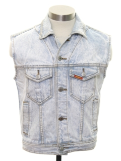1980's Mens Totally 80s Acid Wash Denim Vest