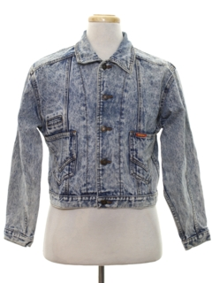 1980's Mens Totally 80s Designer Acid Wash Denim Jacket
