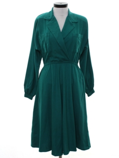 1980's Womens Secretary Style Dress