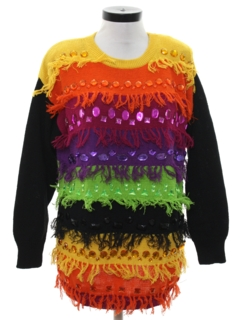 1980's Womens Totally 80s Style Cocktail Sweater