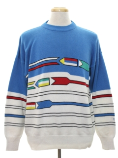 1980's Mens Totally 80s Mod Ski Sweater