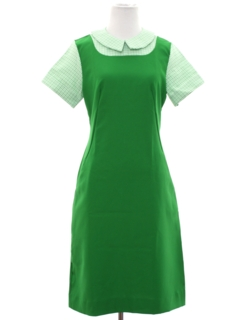 1970's Womens Mod Diner Style Dress