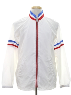 1980's Mens Mod Racing Style Windbreaker Jacket