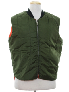 1980's Mens Reversible Ski Style Work Vest Jacket