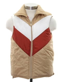1980's Mens Totally 80s Western style Reversible Ski Vest Jacket