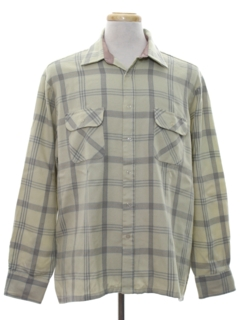1980's Mens Flannel Board Style Shirt