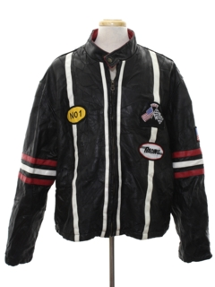 1990's Mens Leather Racing Jacket