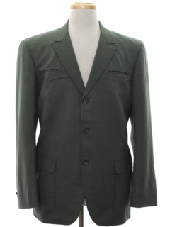 1960's Mens Mod Western Blazer Sport Coat Jacket