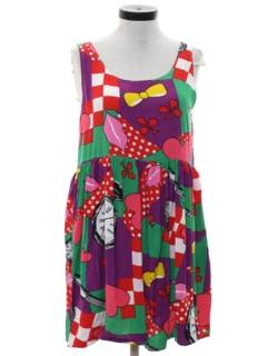 1980's Womens Totally 80s Style Dress