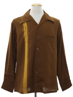 1960's Mens Reproduction Retro Gabardine Sport Shirt