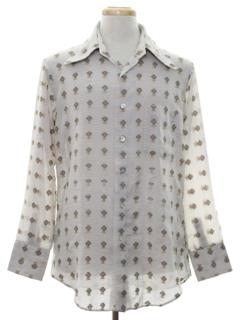 1970's Mens Mod Subtle Print Shirt