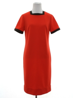 1960's Womens Mod Knit Shift Dress