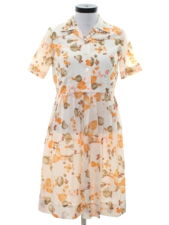 1960's Womens Mod Print Day Dress
