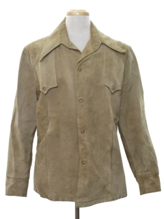 1970's Mens Suede Western Style Leather Jacket