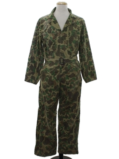 1950's Mens Camo Hunting Coveralls