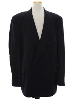 1940's Mens Swing Style Gabardine Blazer Sportcoat Jacket