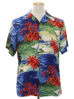 1950's Mens Kobe Silk Hawaiian Shirt*
