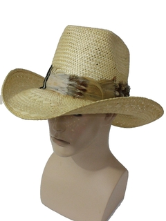 1970's Mens Accessories - Straw Cowboy Hat