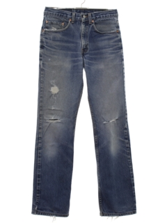 1980's Mens Grunge Levis 517 Slight Bootcut Flared Denim Jeans Pants